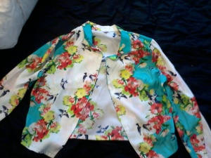 Bongo Bird Flower Blazer was $30 I paid $17.99